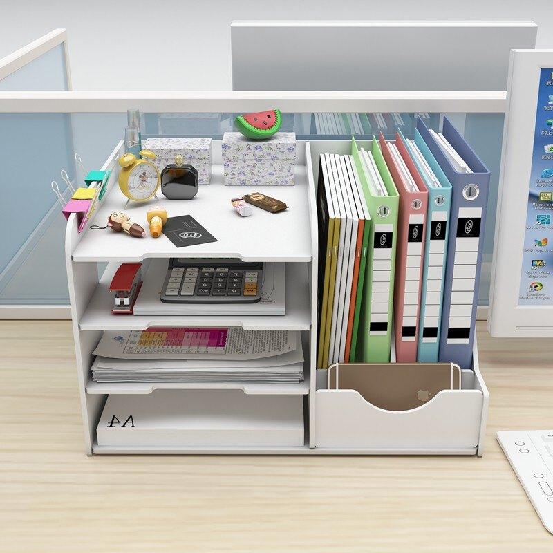 文件收納架 整裝版文件架分層多收納桌面文件柜置物架書立文件夾收納盒辦公室【xy1222】