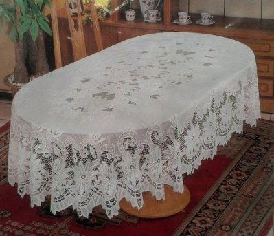 A++~台灣製針織5*7.5尺橢圓桌巾~5189