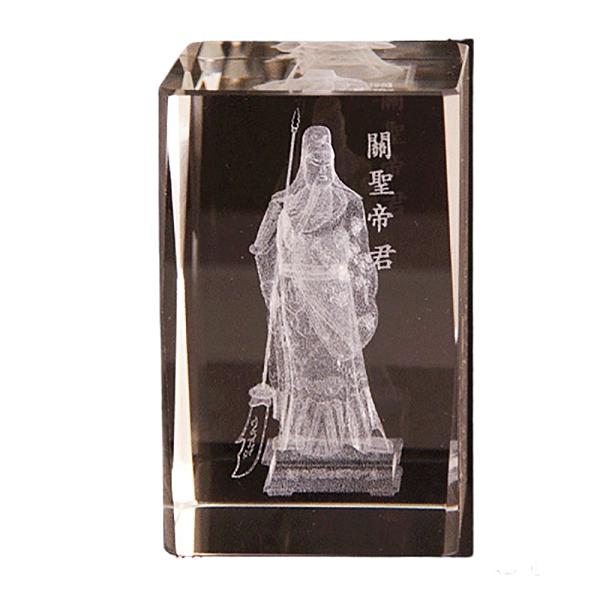 關聖帝君(立)水晶柱(小) 【十方佛教文物】