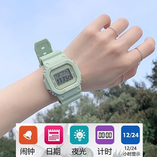智能手環 ins網紅超火獨角獸電子手表 中學生韓版簡約原宿風運動防水電子表 莎瓦迪卡