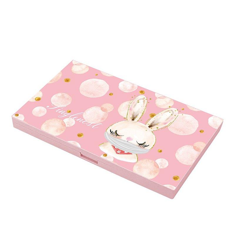 【防疫抗菌】快速出貨 |【銀離子抗菌口罩盒】戴口罩的可愛兔兔