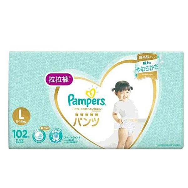 [COSCO代購] 單次運費限購一組 W360476 幫寶適一級幫拉拉褲 L 號 102 片 - 日本境內版