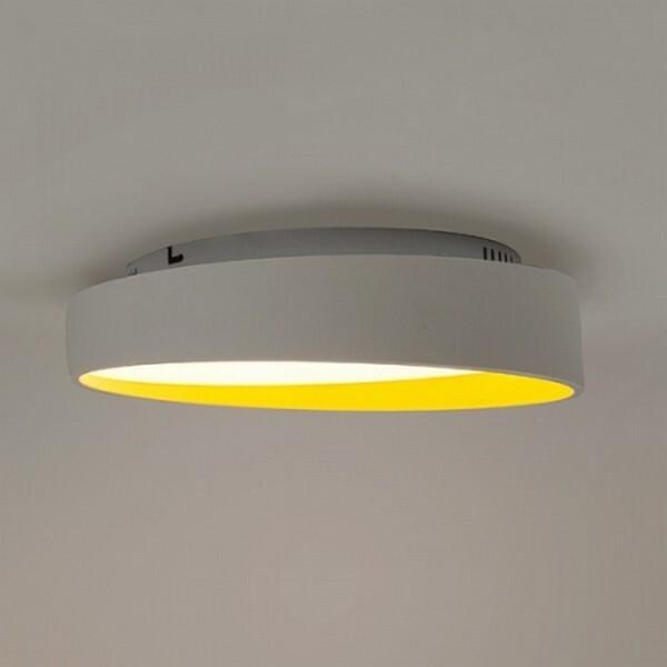 18park-新客吸頂燈-圓 [全電壓,外白內黃,40cm,暖白光]
