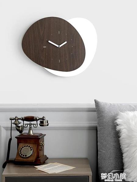 mandelda輕奢鐘表家用鐘飾北歐掛鐘客廳創意個性藝術時鐘掛牆簡約 夢幻小鎮
