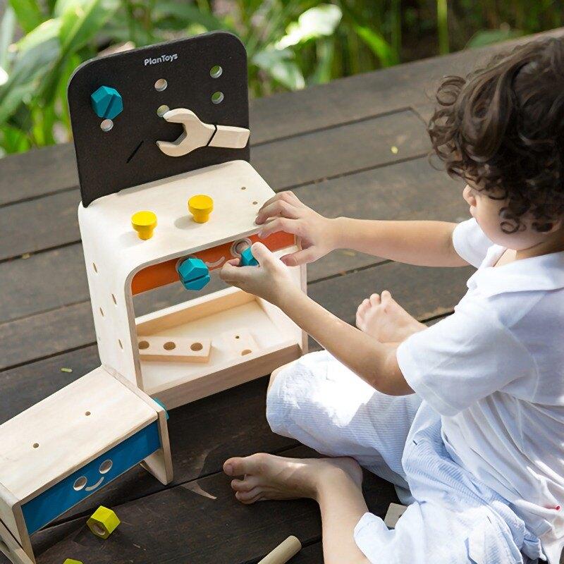 《  PLAN TOYS 》木製 小工匠工作檯 東喬精品百貨