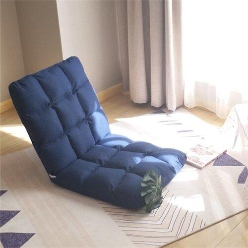 【快速出貨】懶人沙發 榻榻米床上折疊椅子宿舍靠背躺椅單人小椅網紅座椅 聖誕節交換禮物