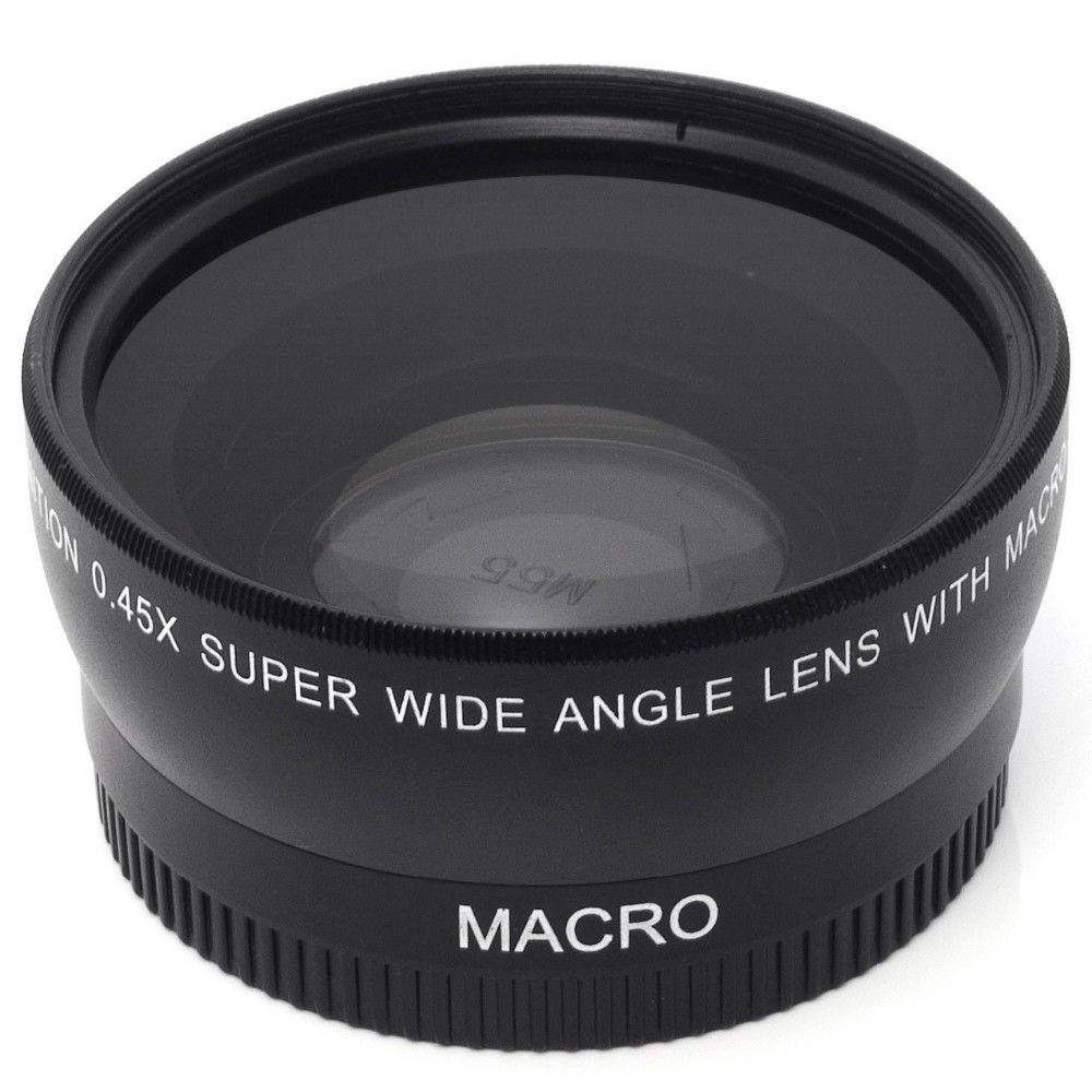 七折促銷 55mm 0.45倍 廣角鏡頭+微距 二合一附加鏡適用尼康佳能索尼富士等 Evgy