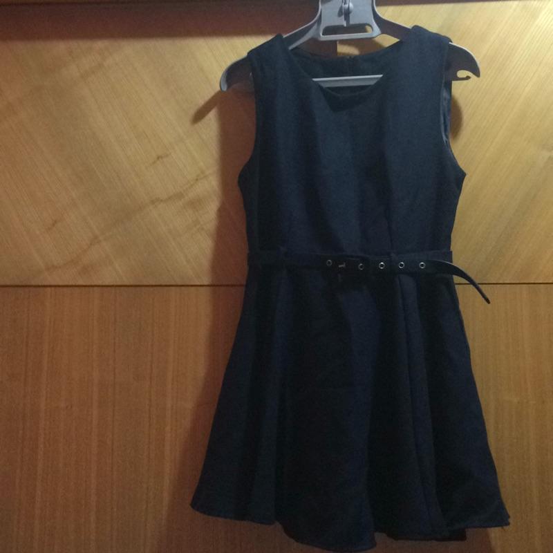 小洋裝 畢業 舞會 禮服 小禮服 深藍色 基本款 L號