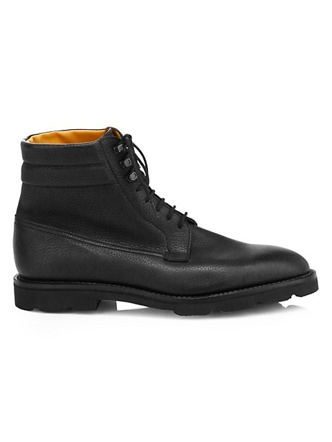Alder Lace-Up Leather Derby Boots