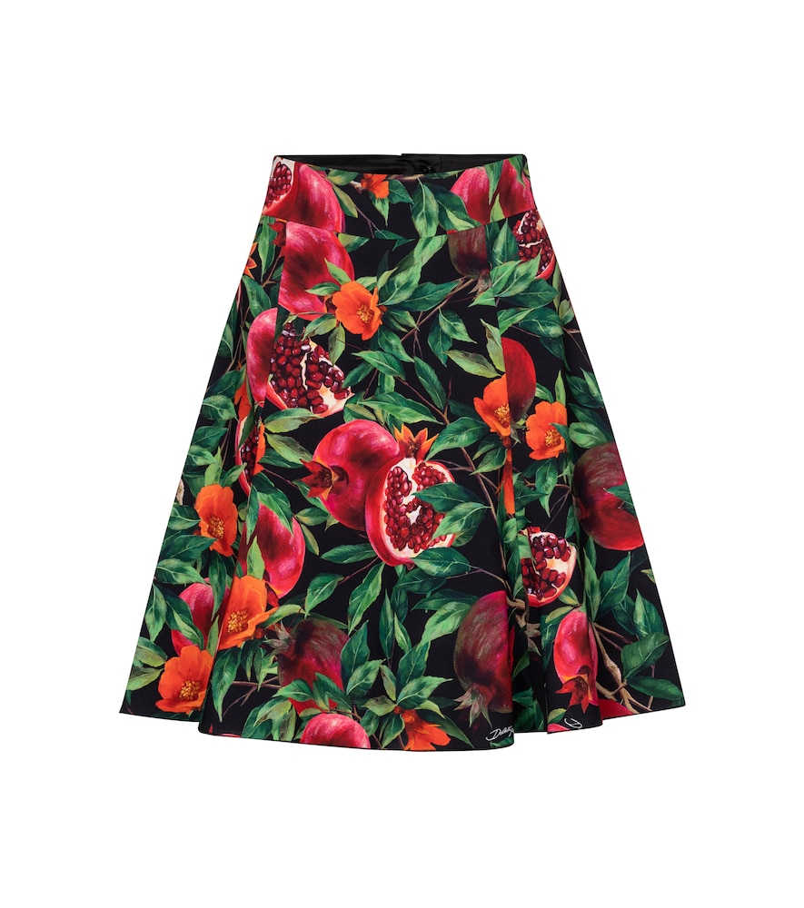 Exclusive to Mytheresa - Pomegranate-print midi skirt