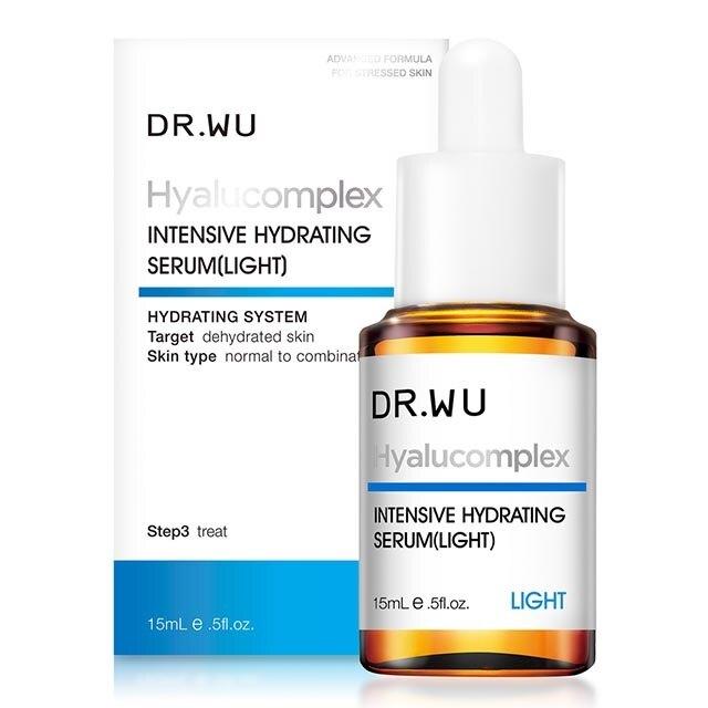 【DR. WU】 玻尿酸保濕精華液15ml (清爽型) 新包裝 完整封膜/效期2023有集點標【淨妍美肌】