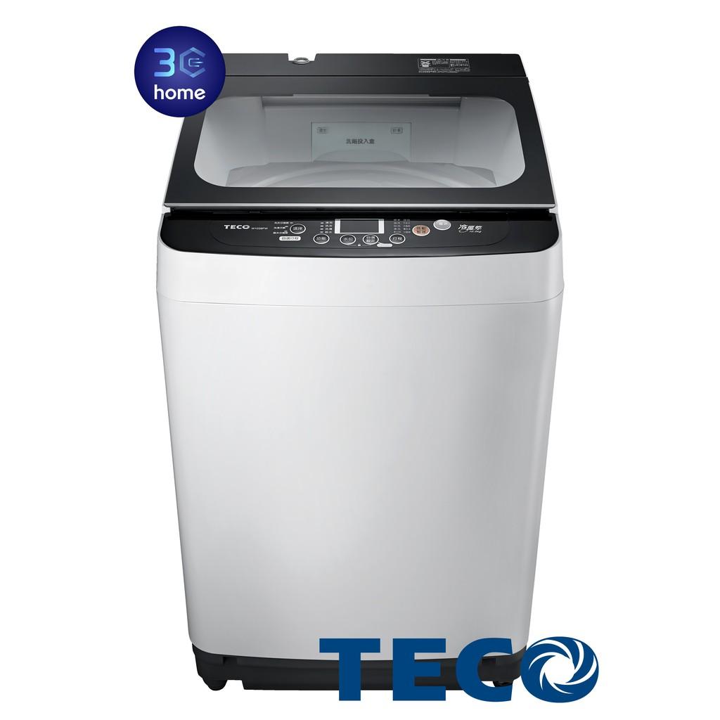 東元TECO FUZZY人工智慧小蠻腰洗衣機10公斤 W1039FW