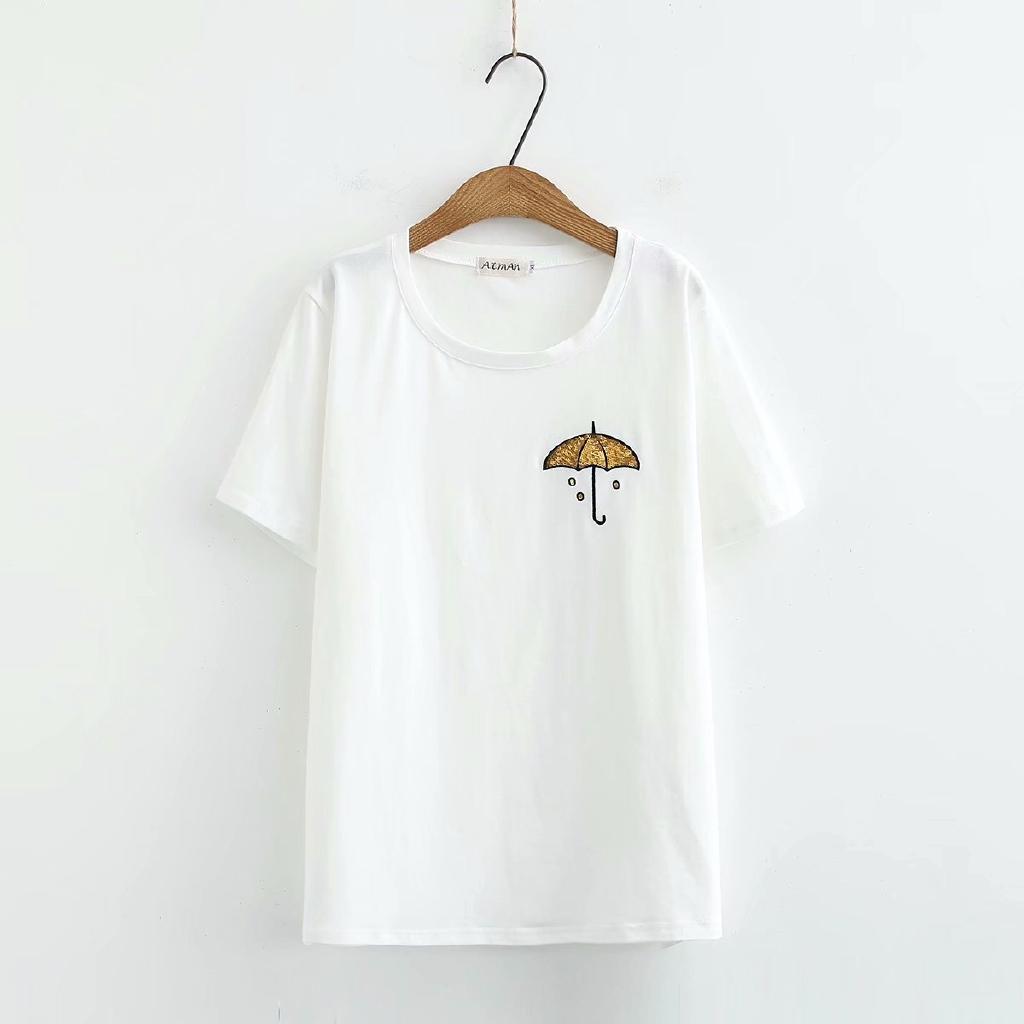 再加上大小XL-3XL婦女的T恤短袖夏季襯衫上衣新款