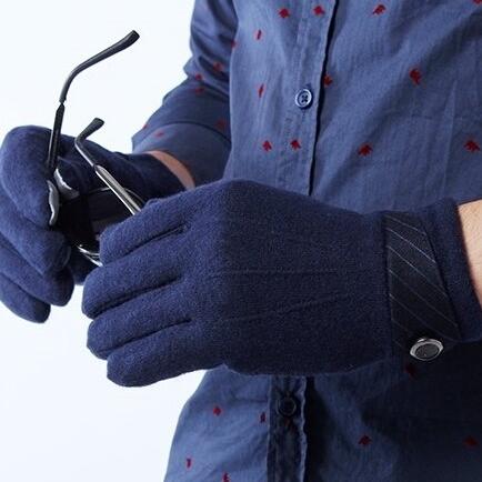觸控羊毛手套-商務保暖加厚可觸屏男手套聖誕節交換禮物72q8【巴黎精品】