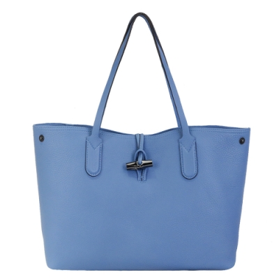 LONGCHAMP ROSEAU ESSENTIAL 竹節托特包(中/藍)
