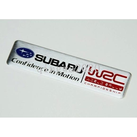 現貨 SUBARU 速霸陸 尾門貼 金屬車貼 WRC世界拉力冠軍 長型款 裝飾貼 烤漆工藝 Wrx XV STI 下殺