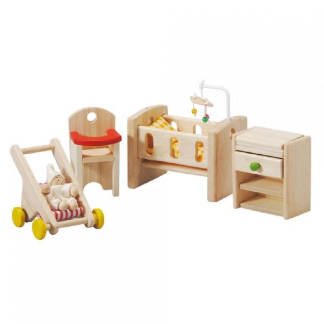 《  PLAN TOYS 》木製 典藏娃娃屋 嬰兒房 東喬精品百貨