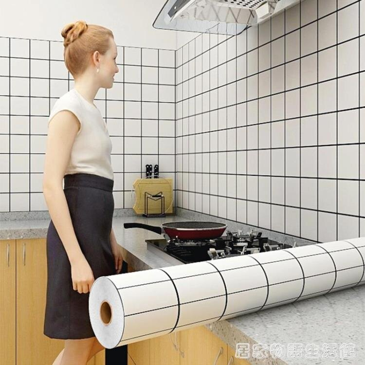 廚房貼紙防水防油自黏牆壁防潮鋁箔耐高溫柜灶臺用加厚隔油紙牆貼