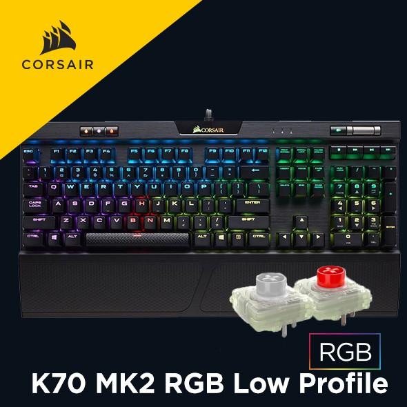 海盜船 CORSAIR K70 MK2 RGB Low Profile 機械式鍵盤 官方授權旗艦店 【送桌面墊】