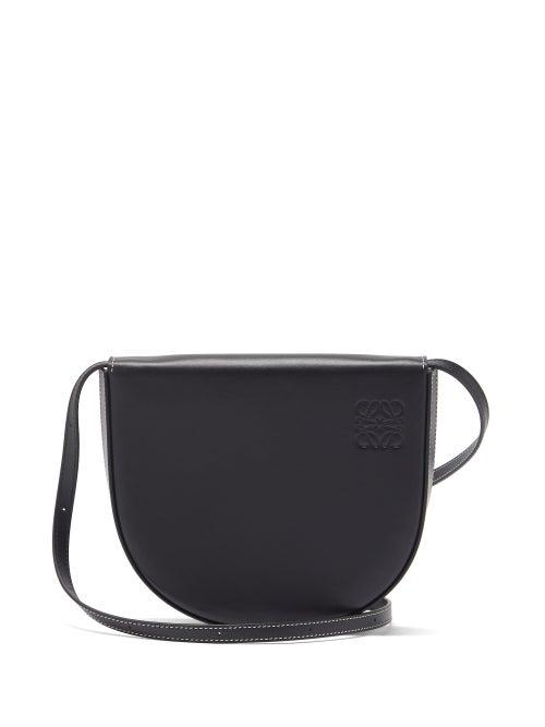 Loewe - Heel Small Leather Cross-body Bag - Womens - Black