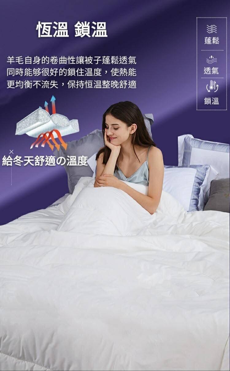 台灣製造 紐西蘭續熱保溫羊毛被