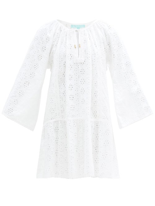 Melissa Odabash - Corina Broderie-anglaise Cotton Dress - Womens - White
