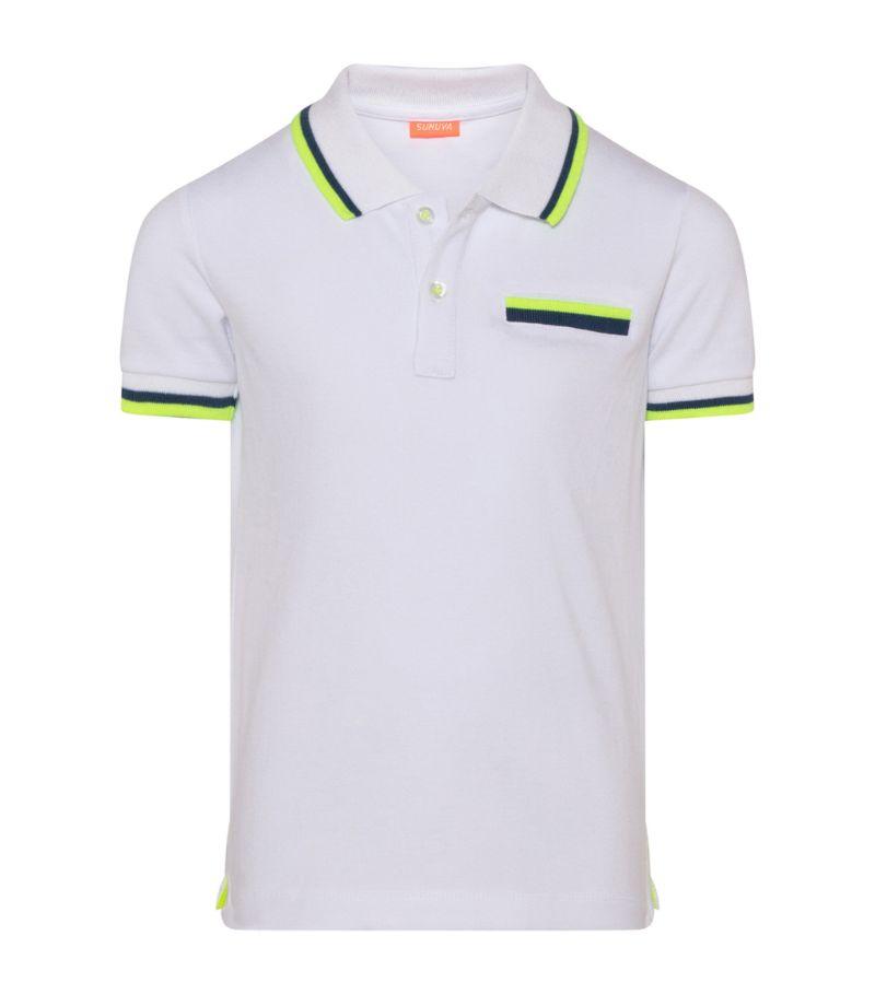 Sunuva Neon-Trim Polo Shirt (1-12 Years)