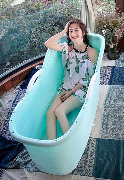 浴桶 大人泡澡桶成人洗澡桶浴缸家用汗蒸桶全身大號加厚沐浴桶浴盆神器