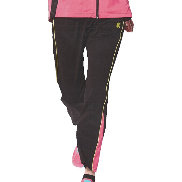 日本名牌 KAWASAKI 女版吸濕排汗單層針織運動長褲-黑#KW2105B