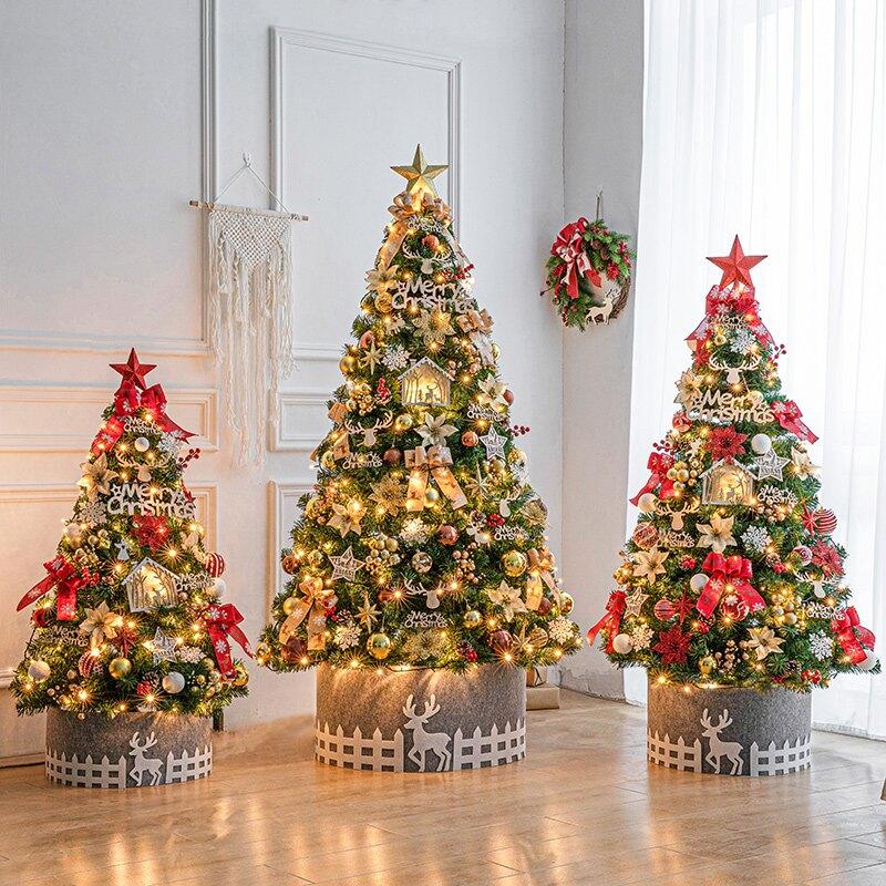 港恒聖誕樹家用小型擺件60/90cm豪華加密聖誕節裝飾場景布置套餐