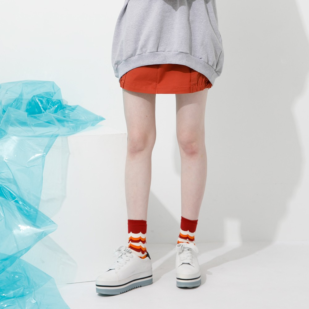 【Dailo】小狐狸格紋拼接造型-短裙(四色/版型適中)