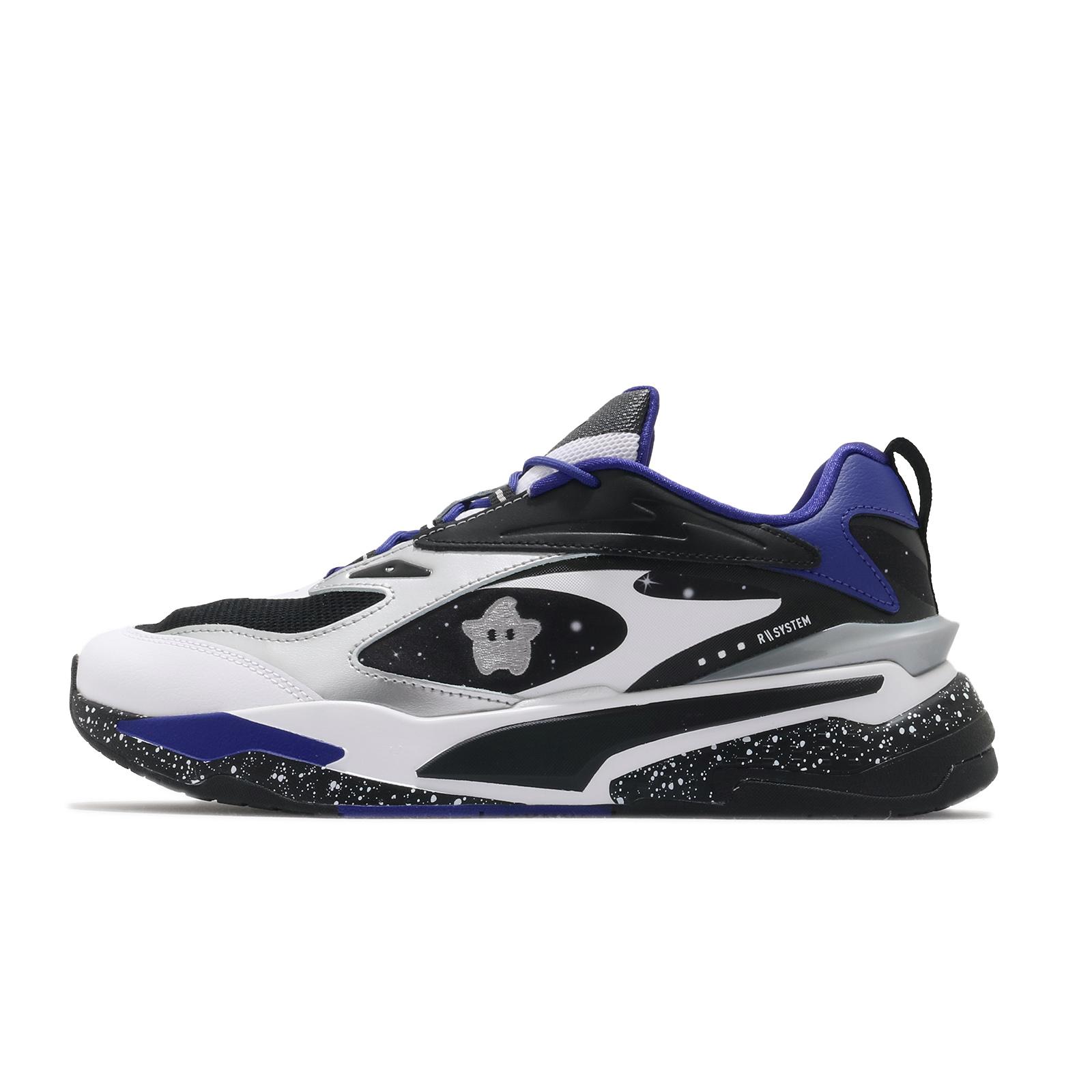 Puma x Super Mario 休閒鞋 RS-Fast Galaxy 藍 黑 男鞋 超級瑪利歐 星星 【ACS】