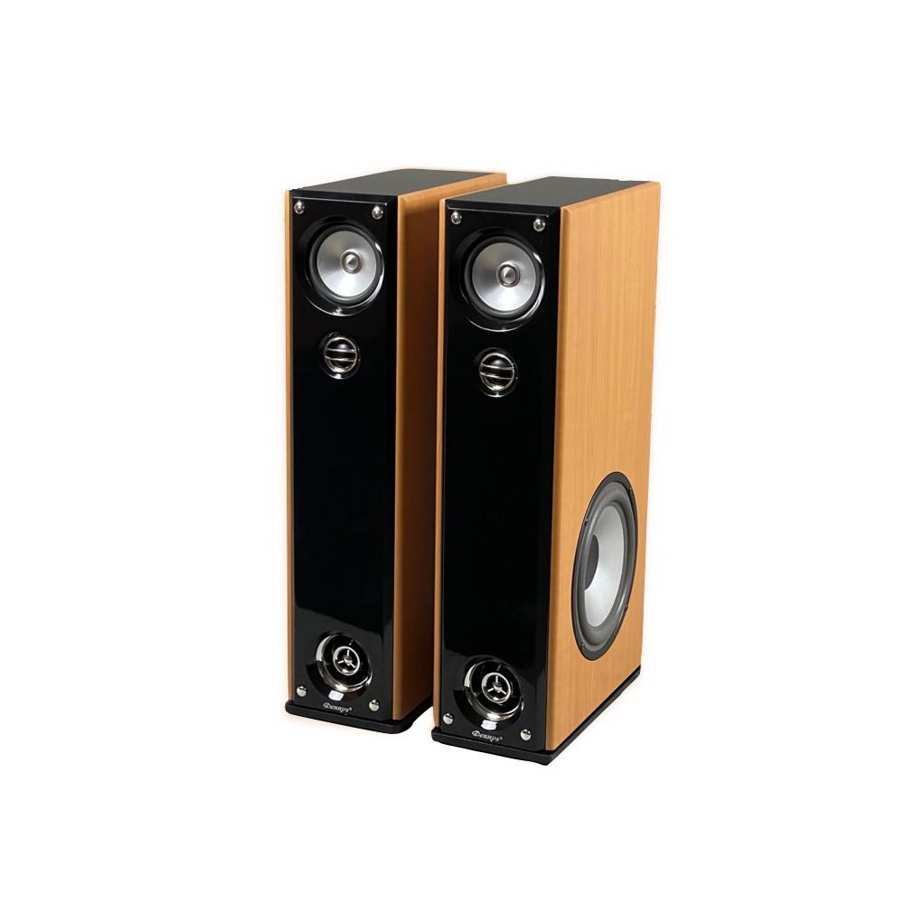 Dennys 超重低音落地型喇叭-原木色(DS-699)