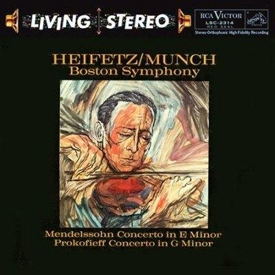 【停看聽音響唱片】【SACD】孟德爾頌、普羅高菲夫小提琴協奏曲 海飛茲,小提琴 / 孟許 指揮