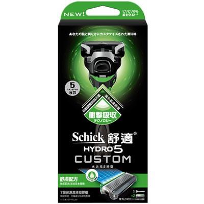 【Schick舒適牌】-附發票-水次元5 辨型刀片 舒膚配方 1刀把+2刀片