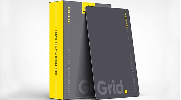 【USPCC 撲克】 S103049097 Grid Typographic Playing Cards