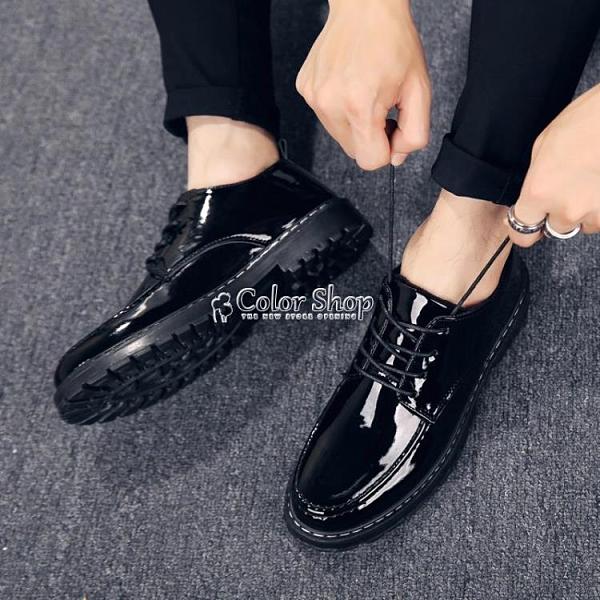 2021季男士皮鞋韓版潮流商務休閒鞋子男英倫百搭學生棉鞋 母親節特惠