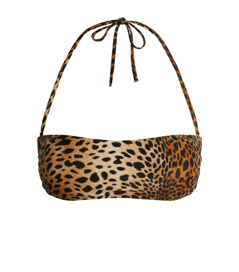 Melissa Odabash Ponza Cheetah Bandeau Bikini Top