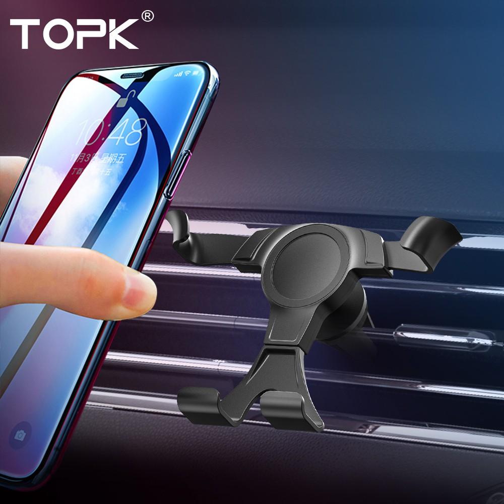 TOPK D12重力式汽車手機支架,用於iPhone Samsung車載支架手機汽車支架