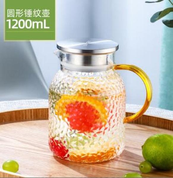 水壺 冷水壺玻璃水壺家用茶壺耐高溫大容量涼白開水杯套裝涼水壺【快速出貨八折搶購】