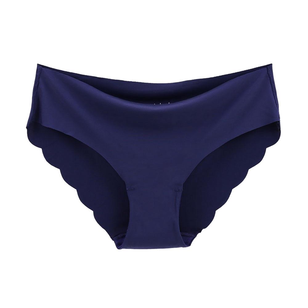 ZXYOUPING 女生超薄無痕內褲 一片式柔軟冰絲三角褲女 M-XL