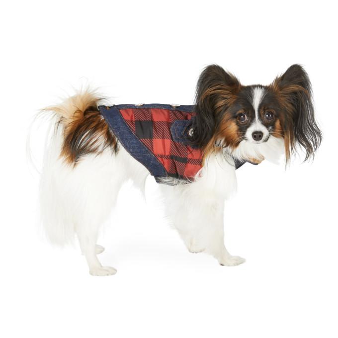 Dsquared2 黑色 and 红色 Poldo Dog Couture 联名小号 Toronto 宠物马甲