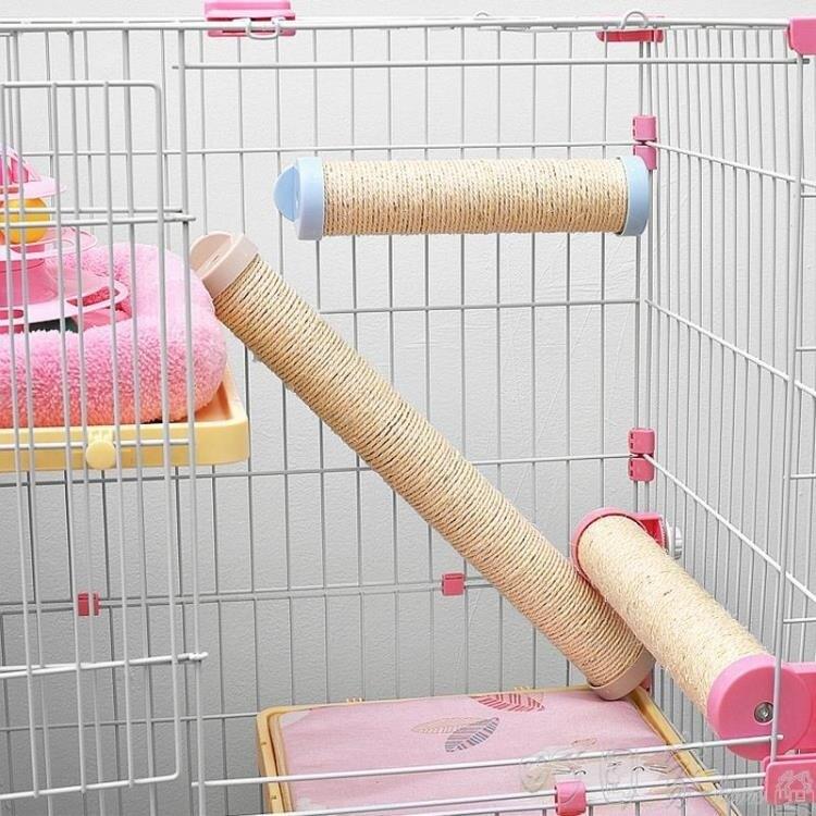 貓籠子專用搭配 立式劍麻貓抓柱子磨爪麻繩貓繩貓爬架貓玩具用品