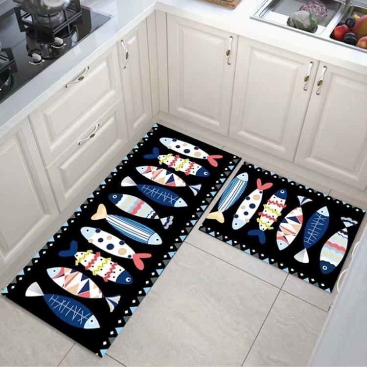 廚房地墊可擦免洗防油家用吸水臥室門墊衛浴廁所洗澡衛生間腳墊子yh