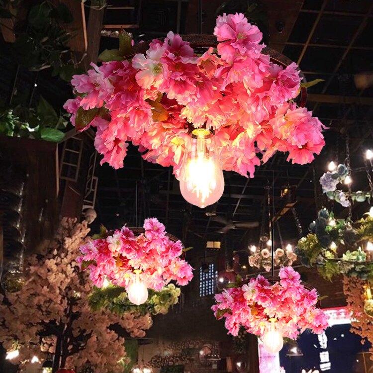 【快速出貨】吊燈 繁花酒吧櫻花時尚主題餐廳咖啡廳酒館裝飾植物 聖誕禮物