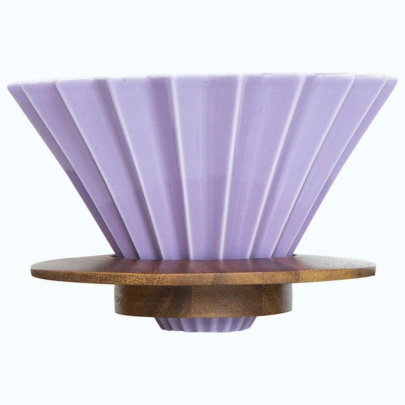 日本ORIGAMI 摺紙咖啡陶瓷濾杯組 M 含杯座 木質樹脂可選 預購