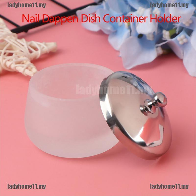 啞光水晶玻璃指甲壓克力水晶碗碟形液體容器固定器工具美甲