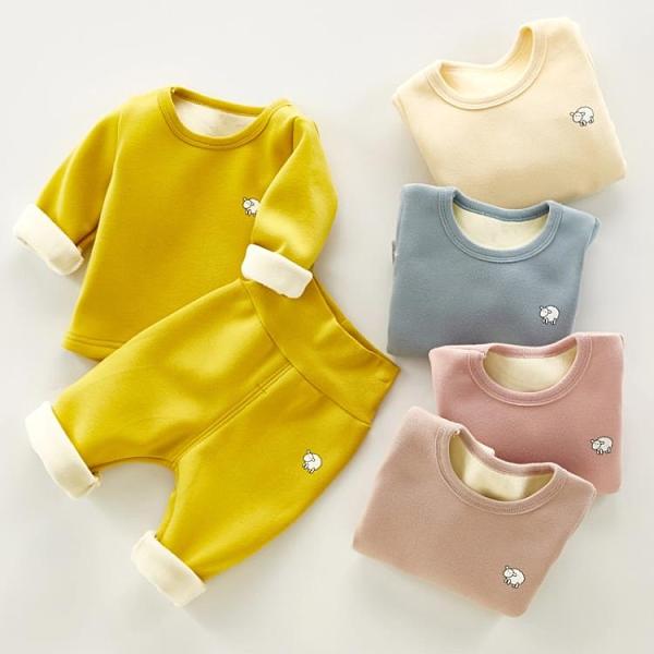純棉嬰兒打底護肚秋衣