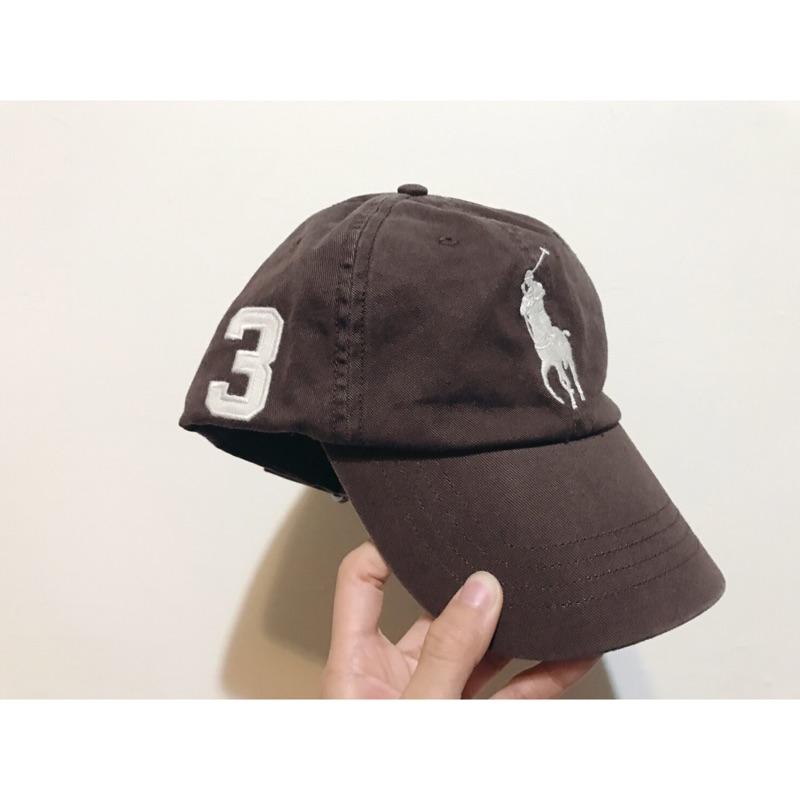 全新Polo老帽 大logo 咖啡色 復古 棒球帽 古著