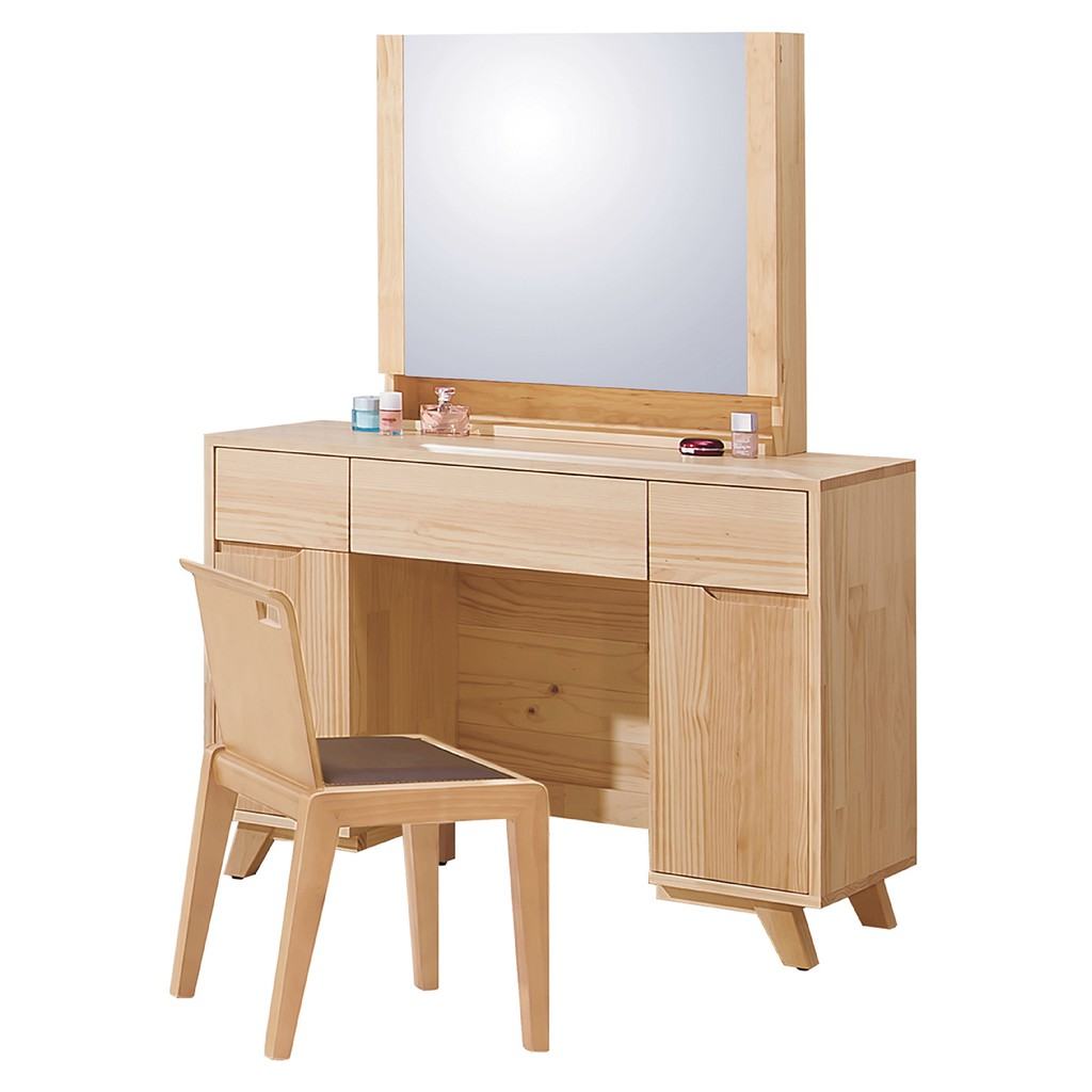 【105cm全實木鏡台-B148-04】化妝桌收納 化妝椅 化妝鏡 梳妝台 房間鏡台【金滿屋】
